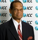 Julian Hunte, the WICB president, at the ICC board meeting, Dubai, October 12, 2010