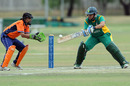 Shandre Fritz struck 12 fours and two sixes in her 71-ball stay, South Africa v Netherlands, ICC Women's Cricket Twenty20 Challenge, October 14, 2010