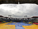 The covers are on ahead of the first ODI, Kochi, October 16, 2010