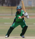 Ireland's Laura Delany was dismissed off the final delivery, Ireland Women v Pakistan Women, ICC Women's Cricket Twenty20 Challenge, Potchefstroom, October 16, 2010