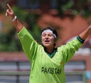 Pakistan's offspinner Nida Dar was the Player of the Match for her tight spell, Ireland Women v Pakistan Women, ICC Women's Cricket Twenty20 Challenge, Potchefstroom, October 16, 2010