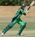 Ireland's opener Jill Whelan cuts the ball behind point, Ireland Women v Netherlands Women, ICC Women's Cricket Twenty20 Challenge, Potchefstroom, October 16, 2010