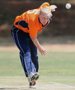 Netherlands' Evelien Gerrits in her delivery stride, Ireland Women v Netherlands Women, ICC Women's Cricket Twenty20 Challenge, Potchefstroom, October 16, 2010