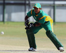 South African wicketkeeper Trisha Chetty collects the ball, South Africa Women v Pakistan Women, ICC Women's Cricket Twenty20 Challenge, Potchefstroom, October 16, 2010