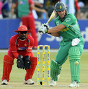 AB de Villiers rocks back to deal with the short ball, South Africa v Zimbabwe, 2nd ODI, Potchefstroom, October 17, 2010