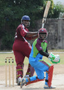 Chesney Hughes turns one fine down the leg side, Leeward Islands v Sagicor High Performance Centre, Group B match, WICB Cup, Kensington Park, Kingston, October 17, 2010