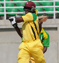 Chris Gayle pulls one during his unbeaten 58, Jamaica v Windward Islands, Group A match, WICB Cup, Trelawny Stadium, October 14, 2010