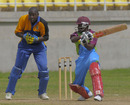 Rajindra Chandrika scores through the off side during his half-century, Barbados v Sagicor High Performance Centre, WICB Cup, Jamaica, October 19, 2010