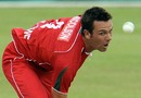 Ian Nicolson in action, South Africa v Zimbabwe, 3rd ODI, Benoni, October 22, 2010