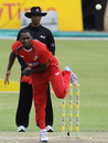Keith Dabengwa delivers the ball, South Africa v Zimbabwe, 3rd ODI, Benoni, October 22, 2010