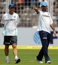 Gary Kirsten and MS Dhoni do the rounds around the ground