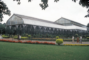 The glass house at the Lalbagh Botanical Garden, Bangalore
