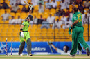 Fawad Alam reacts after being bowled by Charl Langeveldt
