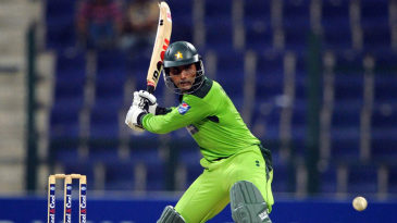 The moment before impact: Abdul Razzaq winds up for a big hit