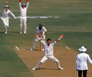 Richard Hadlee appeals for a wicket