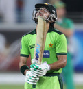A distraught Fawad Alam after the loss, Pakistan v South Africa, 3rd ODI, Dubai, November 2, 2010