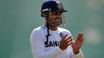 Virender Sehwag captured in a light-hearted moment