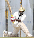 SS Sriram sweeps during his rearguard effort for Assam, Tamil Nadu v Assam, Chennai, Ranji Trophy Super League, 3rd day, November 3, 2010