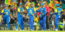 Lasith Malinga grabs a stump as a souvenir after taking the last Australian wicket, Australia v Sri Lanka, 2nd ODI, Sydney, November 5, 2010