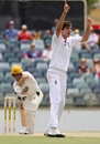 Steven Finn trapped Michael Swart lbw for 30