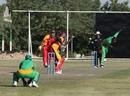 Gladson Kandela of Zambia bowls, November 7 2010