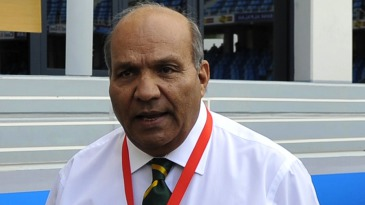 Intikhab Alam, Pakistan's team manager, at the stadium