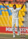Zaheer Khan removed Tim McIntosh for a duck, India v New Zealand, 1st Test, Ahmedabad, 5th day, November 8, 2010
