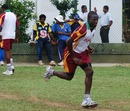 Nelon Pascal runs in to bowl during a net session, SSC, Colombo, November 9, 2010