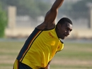 Vanuatu's Patrick Matautaava loosens up, Germany v Vanuatu, WCL Division 8 Semi-Final, Kuwait City, November 11 2010