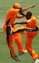 Trevor Garwe celebrates one of his four wickets against Southern Rocks, Mashonaland Eagles v Southern Rocks, Stanbic Bank 20, Harare, November 13, 2010