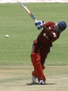 Brian Lara hit eight fours and a six in his fifty