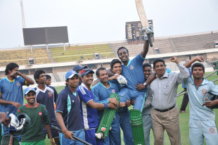 Elias Sunny was Dhaka's hero after his unbeaten 87 saw his team home in the final against  Barisal