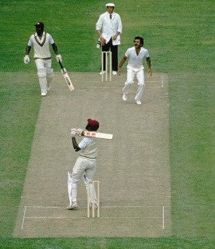 Viv Richards holes out to Kapil Dev off Madan Lal, India v West Indies, 1983 World Cup final, Lord's, June 25, 1983