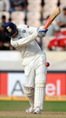 Virender Sehwag lofts one down the ground enroute to a quick half-century, India v New Zealand, 2nd Test, Hyderabad, 5th day, November 16, 2010