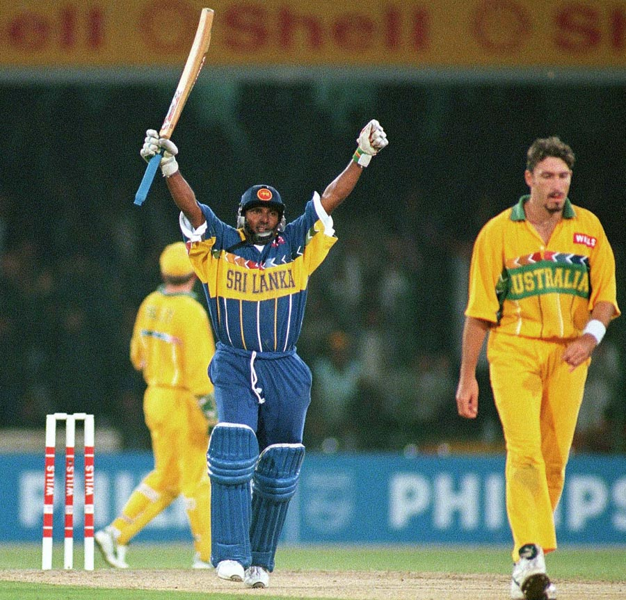 Hail Ara: three wickets, two catches and the small matter of a century capped a glorious final in Lahore for Aravinda de Silva