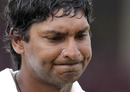 Kumar Sangakkara was dismissed for 4
