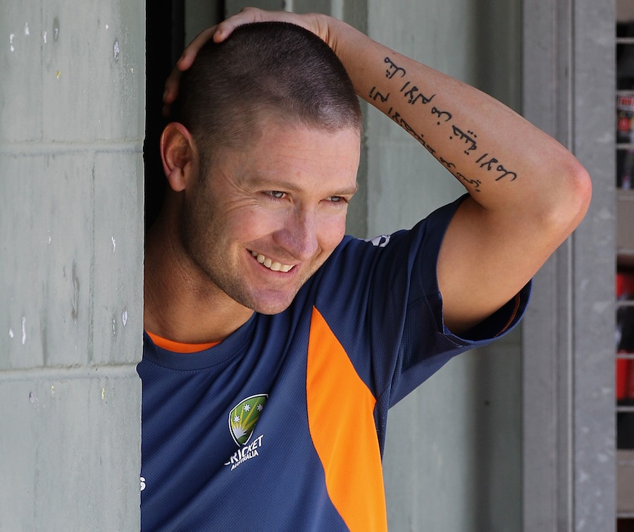 Michael Clarke and his arabic tattoo?