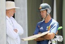 Ricky Ponting has a word with Greg Chappell