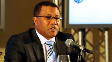 Gerald Majola at Makhaya Ntini's retirement announcement