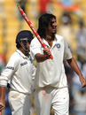 Ishant Sharma celebrates after India defeated New Zealand in Nagpur, India v New Zealand, 3rd Test, Nagpur, 4th day, November 23, 2010