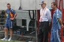 Doug Bollinger, Andrew Hilditch and Greg Chappell at Australia's net session, Brisbane, November 24, 2010