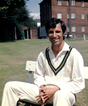 Asif Iqbal poses for a photo, June 14, 1974