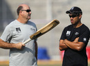 Ross Taylor receives some batting tips from his coach Mark Greatbatch, Guwahati, November 27, 2010