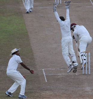 Mahela Jayawardene catches Chris Gayle at slip, Sri Lanka v West Indies, 2nd Test, Premadasa Stadium, Colombo, 5th day, November 27, 2010