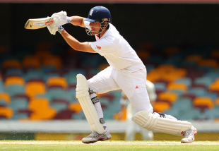 Alastair Cook moved to his 150 on the final morning, Australia v England, 1st Test, Brisbane, 5th day, November 29, 2010