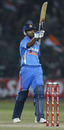 Virat Kohli celebrates his half-century, India v New Zealand, 2nd ODI, Jaipur, December 1, 2010