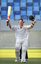 Neil McCallum celebrates reaching his hundred, Afghanistan v Scotland, ICC Intercontinental Cup final, Dubai, December 2, 2010