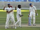 Narwoz Mangal celebrates his catch to remove Gregor Maiden, Afghanistan v Scotland, ICC Intercontinental Cup, Dubai, December 3, 2010