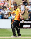 Michael Pollard brings up his half-century, Wellington v Canterbury, HRV Cup, Basin Reserve, December 5, 2010