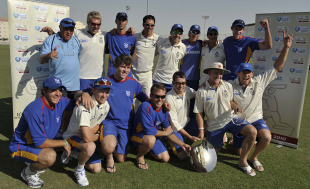 Namibia celebrate with the Intercontinental Shield